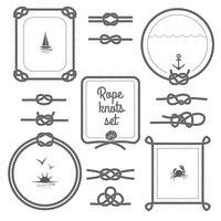Rope Frames Black And White Set