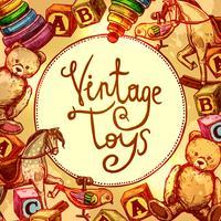 Composición de juguetes vintage