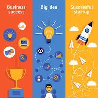 Bannières verticales du concept entreprise