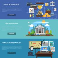 Finance Banner Horizontal Set