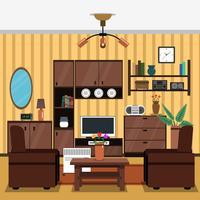Interior conceito plano