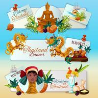 Conjunto de Banners turísticos de Tailandia