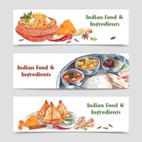 Indian Food Banners Set
