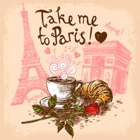 Take me to paris concept vector