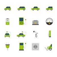 Elektrische auto Icon Set