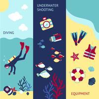 Set di banner subacqueo