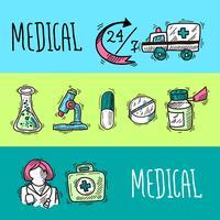 Medizinische Banner eingestellt