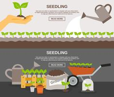 Ensemble de bannière de semis