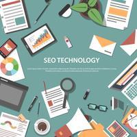 Concept web d'optimisation de moteur de recherche