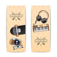 hipster banner set