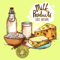 Milk Product Still Life Concept