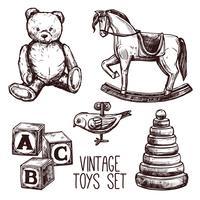 Conjunto de brinquedos vintage