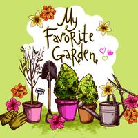 Set de dibujo de jardín