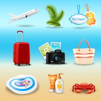 Vacation Realistic Icons