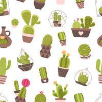 Kaktus sömlös mönster
