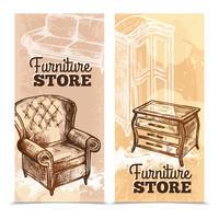 Bannières de meubles verticales