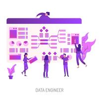 Data Engineer Conceptueel illustratieontwerp