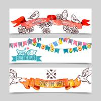 Holiday Banner Set vector
