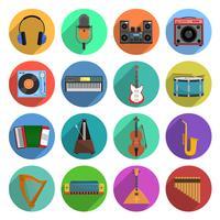 Conjunto de iconos de melodía y música