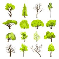 Skizze Baum Icons Set