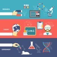 Conjunto de banners de teoría de la ciencia