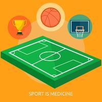 Lo sport è progettazione dell'illustrazione concettuale della medicina