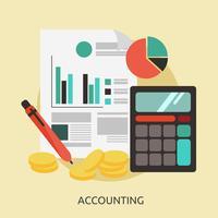 Progettazione dell'illustrazione concettuale di contabilità
