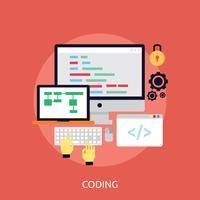 Ilustração conceitual de codificação Design vetor