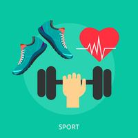 Deporte Conceptual Ilustración Diseño vector