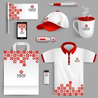Identidad Corporativa Roja vector