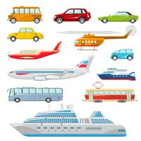 Transport Icons Flat