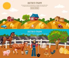 Farm Banner Set vector