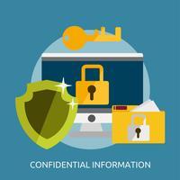 Konfidentiell information Konceptuell illustration Design