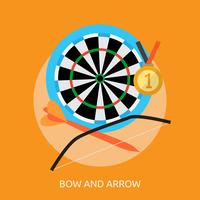 Bow and Arrow Conceptual illustration Design