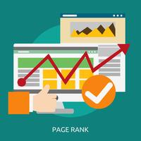Page Rank Illustration conceptuelle Design vecteur