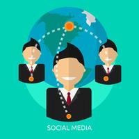 Social Media Conceptual illustration Design