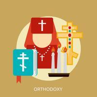 Progettazione dell'illustrazione concettuale di ortodossia