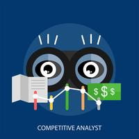 Competitive Analyst Conceptueel illustratieontwerp