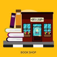 Buchhandlung konzeptionelle Illustration Design