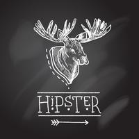 Sketch antlers vector