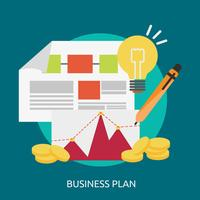 Progettazione concettuale dell'illustrazione del business plan