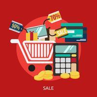 Progettazione dell'illustrazione concettuale di vendita