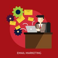 Email Marketing Conceptuel illustration Design vecteur