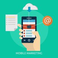 Mobile Marketing Conceptual Ilustración Diseño