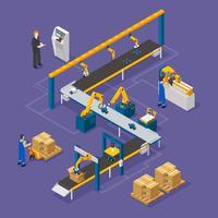 Isometrische Zusammensetzung der Fabrik