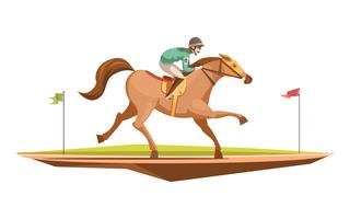 Horse Riding Retro Design Concept
