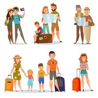 Set Of Traveling People