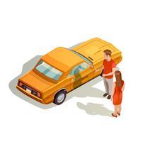 Car Kit Isometrische Zusammensetzung