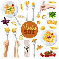 Pasta realistische set