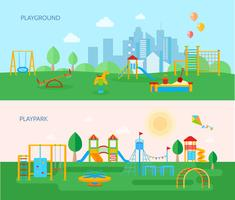 Playground Park Banners Set